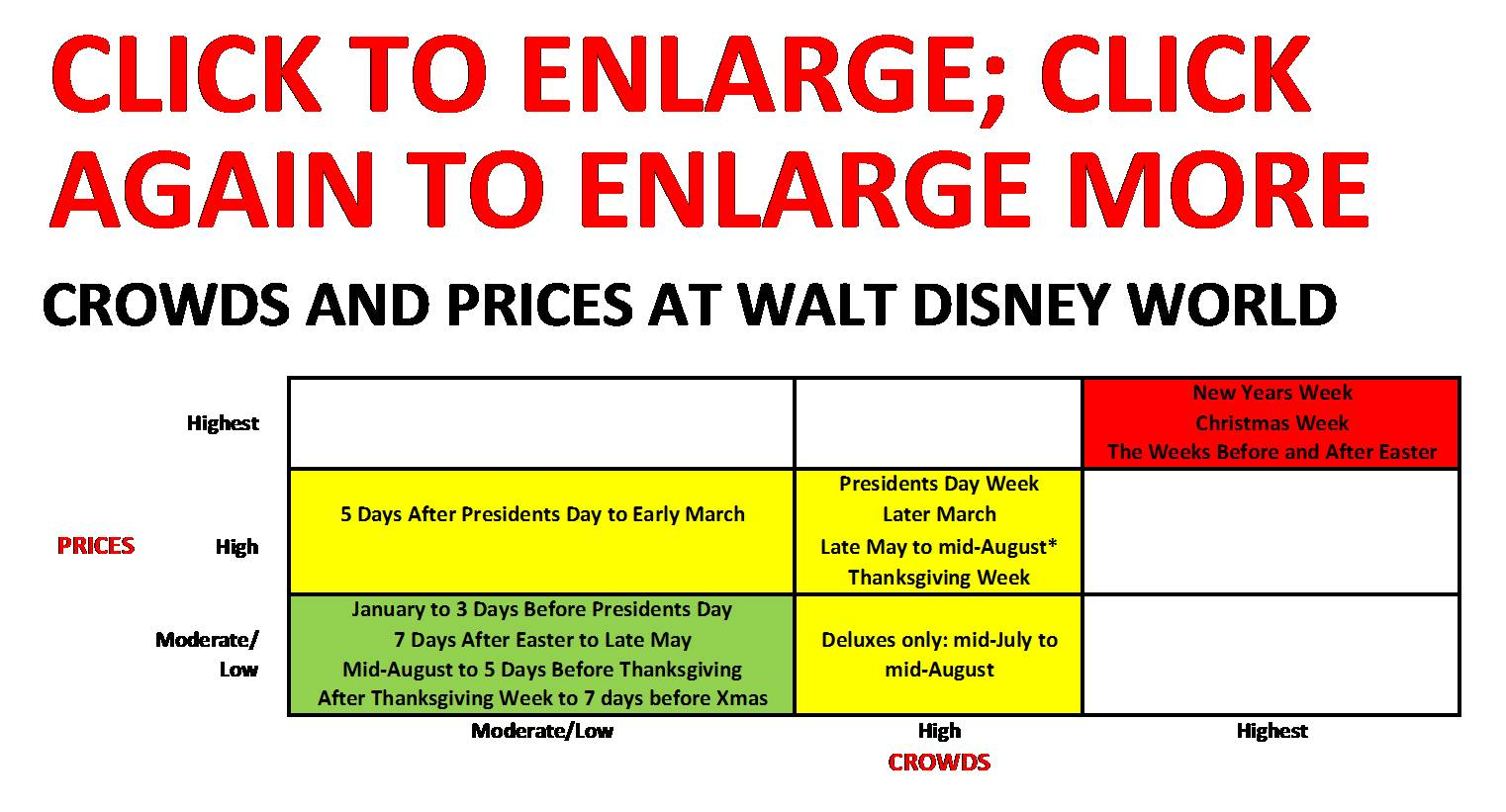 Walt Disney World pricing is complicated, and prices do vary during these ...