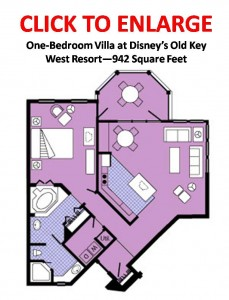 Old Key West One-Bedroom Villa Floor Plan Layout