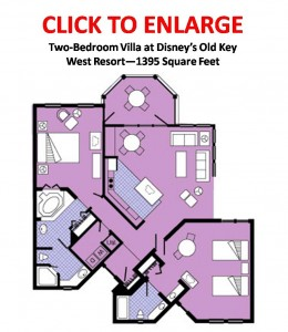 Old Key West Two Bedroom Villa Floor Plan Layout