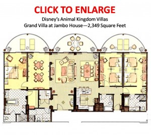 Animal Kingdom Villas Jambo House Grand Villa Floorplan