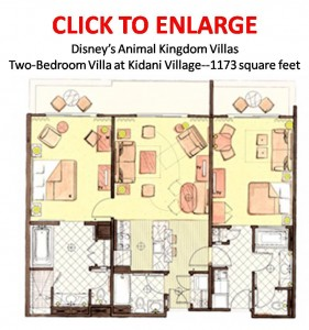 Kidani Village Two Bedroom Floorplan