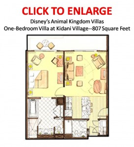 Kidani Village One-Bedroom Floorplan
