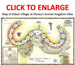 Map of Kidani Village at Disney's Animal Kingdom Lodge Villas