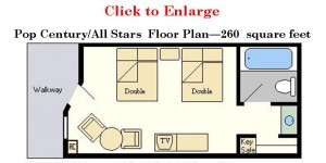 Disney's Value Resorts Floor Plan