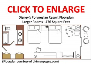 Disney's Polynesian Resort Larger Rooms