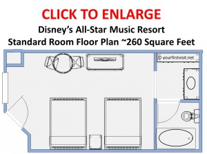 Floor Plan Disney's All-Star Music Resort