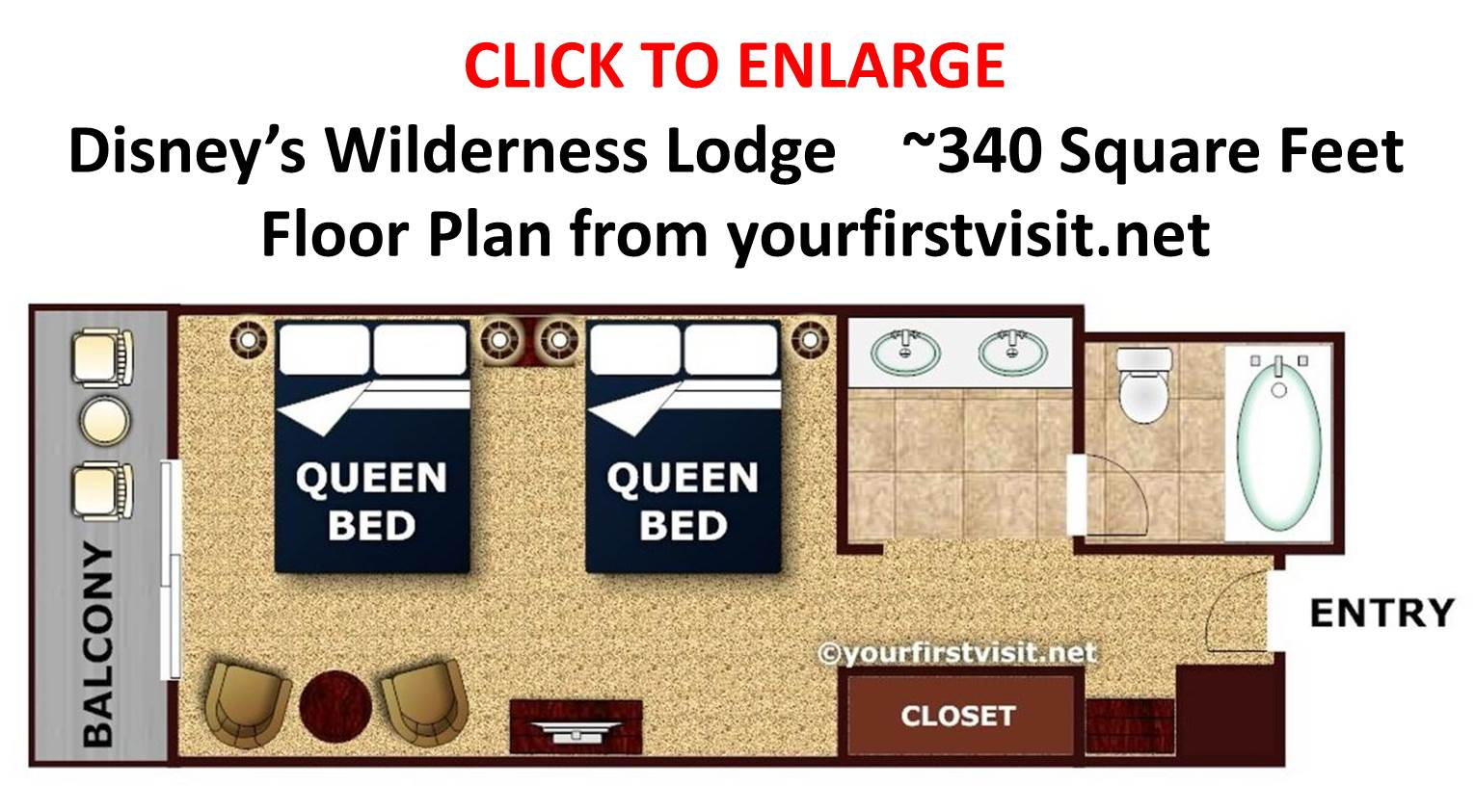 Fort Wilderness Cabins Floor Plan: Accommodations At Disney's Wilderness Lodge
