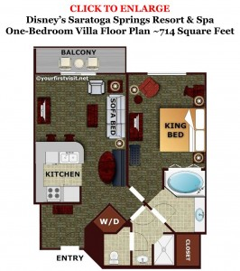 One Bedroom Villa Floor Plan Disney's Saratoga Springs from yourfirstvisit.net