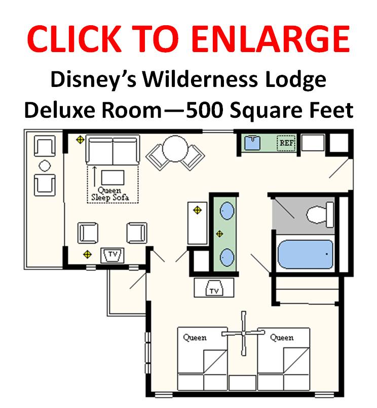 Disney World Treehouse Villas Floor Plan