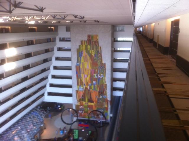 Review disney 39 s contemporary resort p3 for Contemporary resort mural