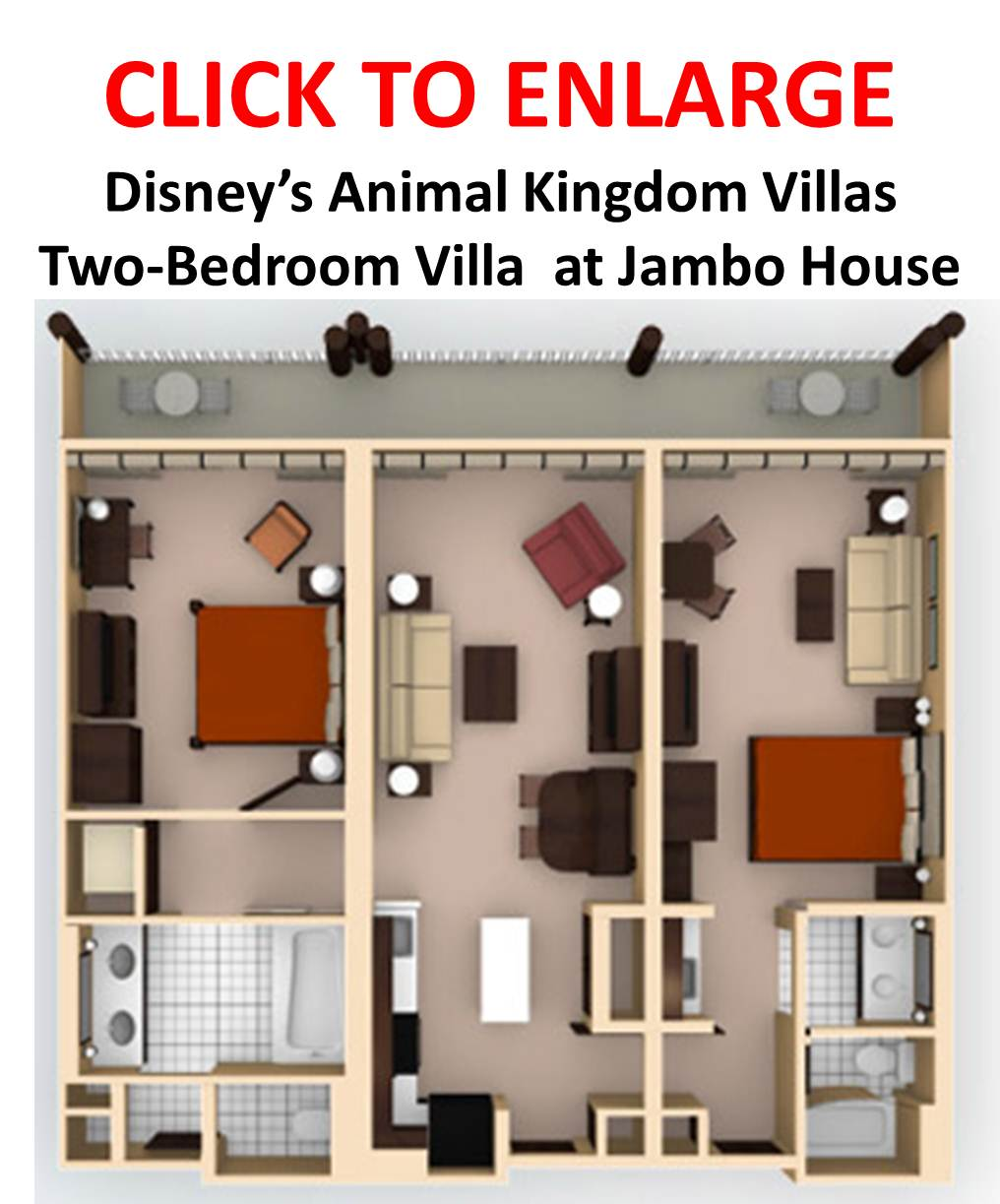 Akl dvc value 2 bedroom villa wdwmagic unofficial walt disney world discussion forums for Animal kingdom 2 bedroom villa floor plan