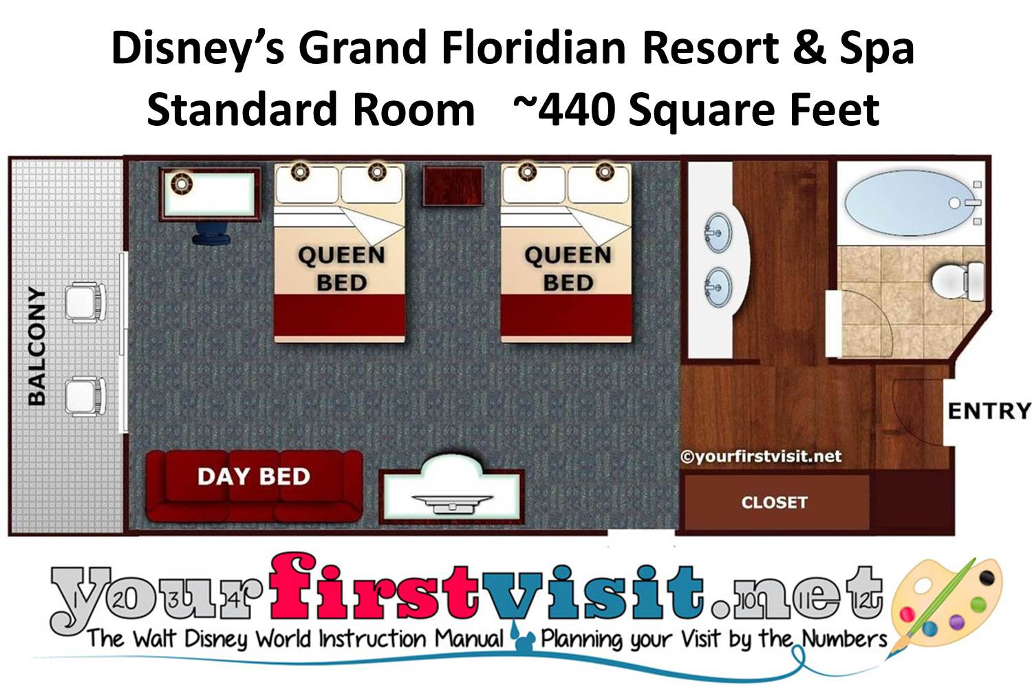 Disney's Grand Floridian Resort & Spa Floor Plan from yourfirstvisit.net