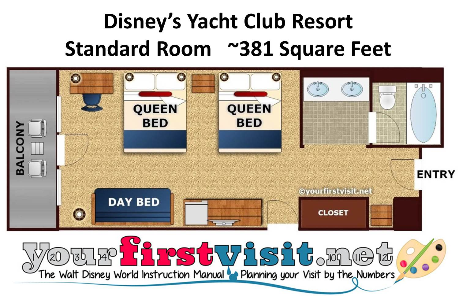 Disney's Yacht Club Resort Floor Plan from yourfirstvisit.net