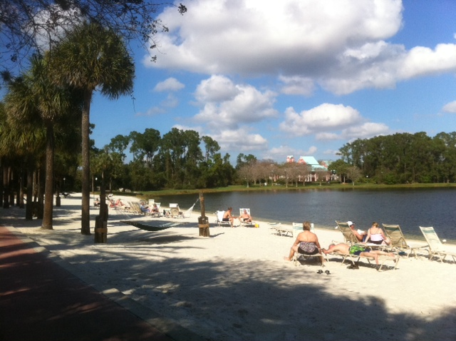 A Beach at Disney's Caribbean Beach Resort from yourfirstvisit.net