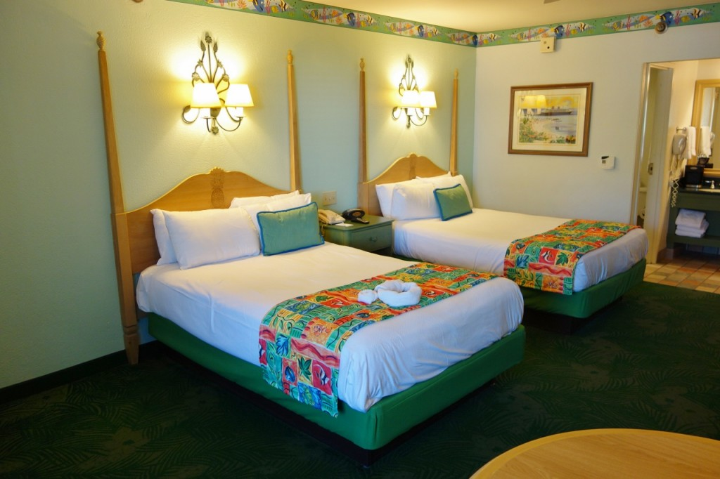Bed Side Disney's Caribbean Beach Resort from yourfirstvisit.net