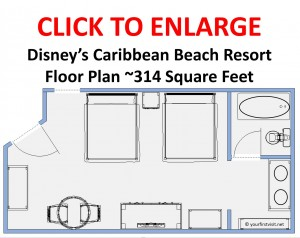 Floor Plan Disney's Caribbean Beach Resort