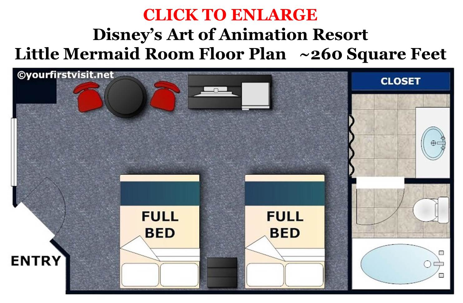 Photo Tour Of Standard Little Mermaid Rooms At Disney S