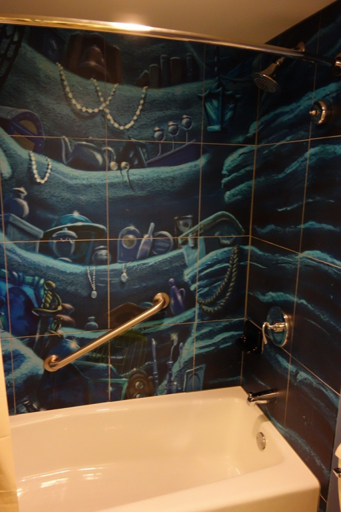 Shower Little Mermaid Art of Animation Room from yourfirstvisit.net