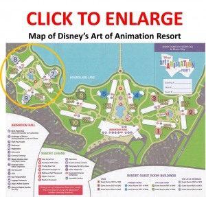 Map of Art of Animation Resort