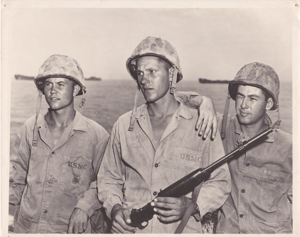 Amy Girl's Dad with 3rd Marine Division Buddies in the Pacific