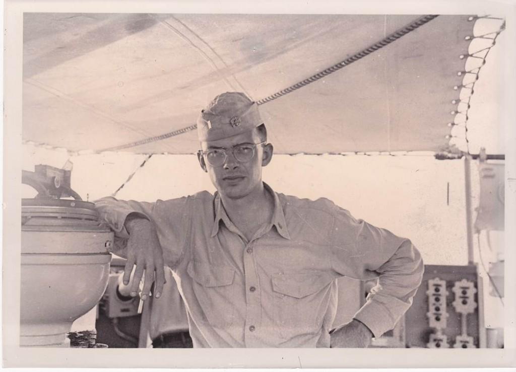 Dad off the Korean Coast on DE 361