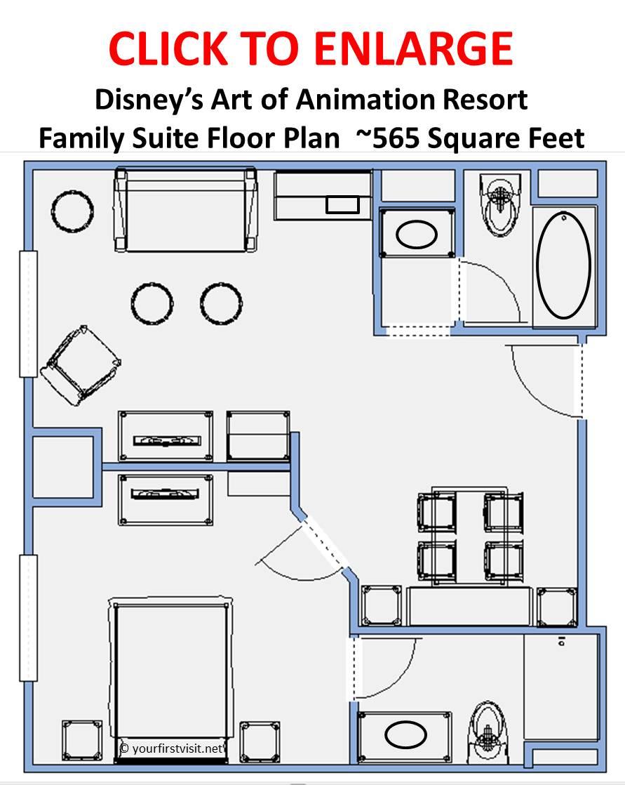 disney art of animation family suite floor plan arrivo us