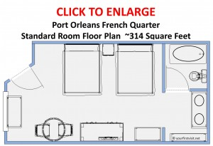 Disney's Port Orleans French Quarter Standard Room Floor Plan