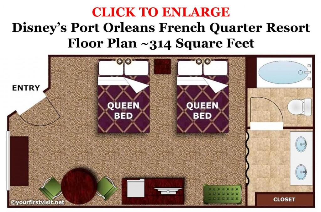 floor plan disney 39 s port orleans french quarter resort from. Black Bedroom Furniture Sets. Home Design Ideas