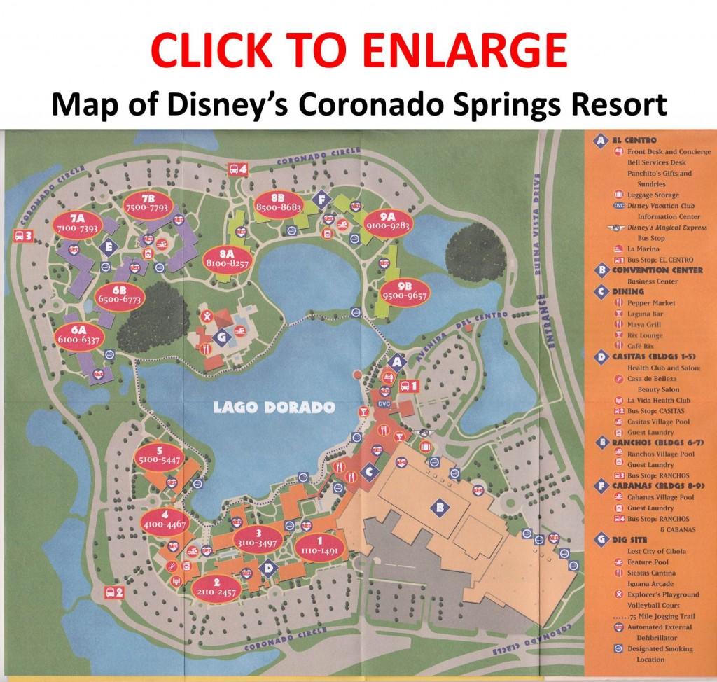 Map of Disney's Coronado Springs Resort