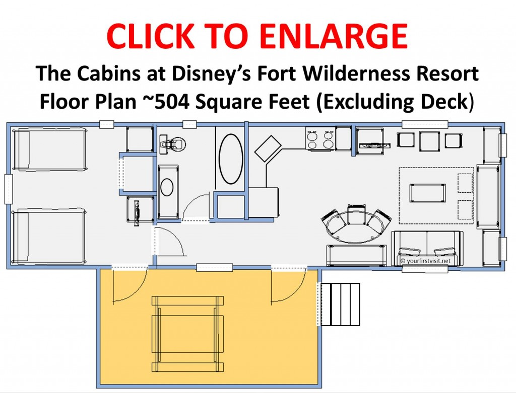 Floor Plan the Cabins at Disney's Fort Wilderness Resort v3