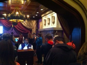 Ordering Room at Be Our Guest Restaurant at the Magic Kingdom