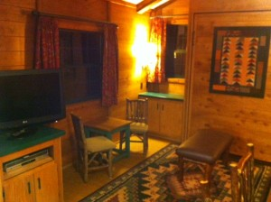 TV Side Living Room at the Cabins at Disney's Fort Wilderness Resort
