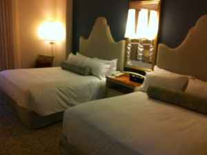 Bed Side at Loews Portofino Bay Resort at Universal Orlando