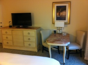 Desk at Loews Portofino Bay Resort at Universal Orlando