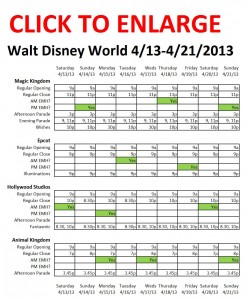 Disney World 4-13 to 4-21-2013