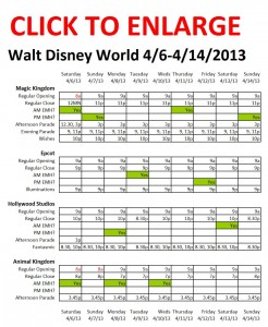 Disney World 4-6 to 4-14-2013