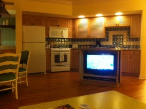 Disney's Old Key West Resort  Kitchen from Living Room