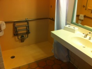 Accessible Bath Sink and Shower Disney's Old Key West Resort