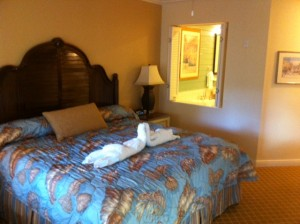 Disney's Old Key West Resort Master Bed from Windows