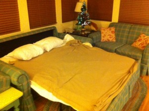 Disney's Old Key West Resort Sofa Bed Ready for Sleepers