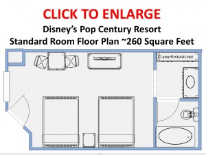 Floor Plan Disney's Pop Century Resort