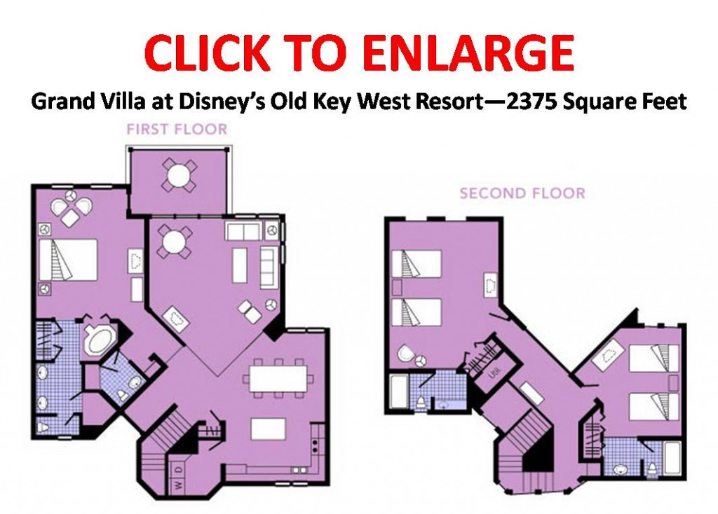 Old Key West Grand Villa Floor Plan Layout