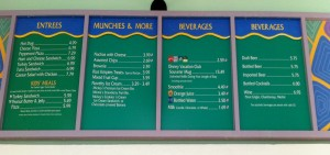 Turtle Shack Pool Menu Disney's Old Key West Resort