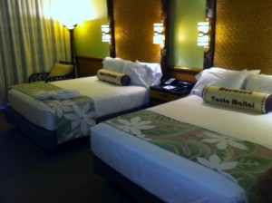 Bed Side at Disney's Polynesian Resort