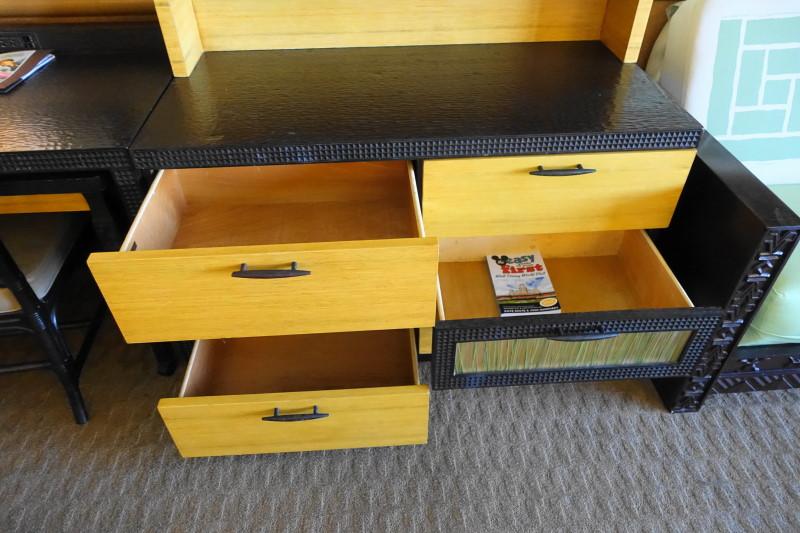 Dresser Storage Disney's Polynesian Village Resort from yourfirstvisit.net