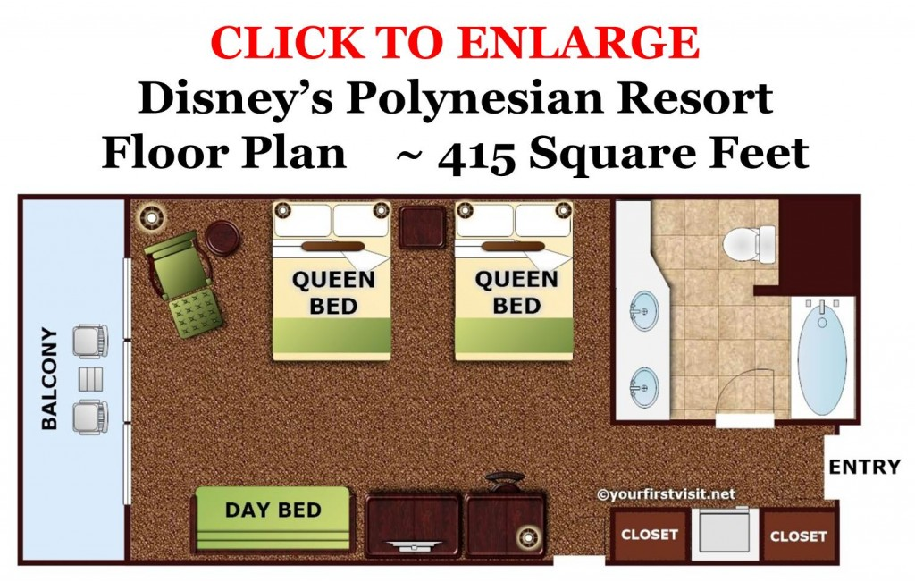 Floor Plan Disney's Polynesian Resort from yourfirstvisit.net