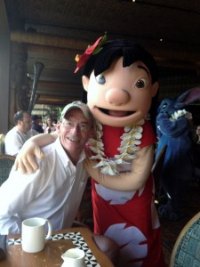 Lilo and me at 'Ohana at the Polynesian Resort