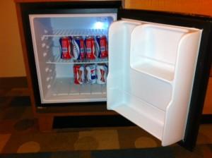 Mini-fridge with Scaling Objects at Disney's Pop Century Resort