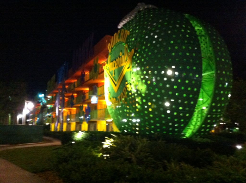 Night Exterior at Disney's Pop Century Resort