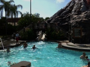 Pool Slide at Disney's Polynesian Resort